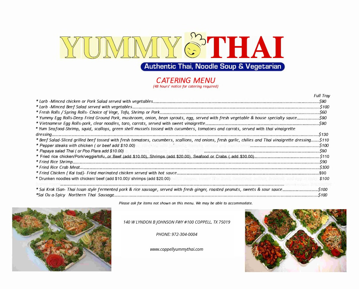 yummythai cateringwhite 0524 Coppell